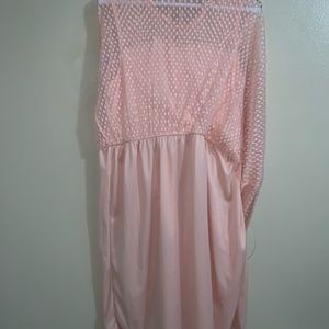 Pink lace dress, size 1x